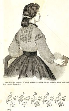 Civil War Fashions - Engravings from 1864 Ladies Friend Magazine - Waists