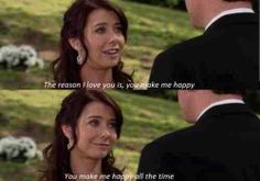 Himym - Love Lily and Marshall Tv Show Quotes, Movie Quotes, Best Tv Shows, Favorite Tv Shows, Love Lily, My Love, Marshall And Lily, Life Unexpected, Reasons I Love You