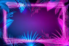 Folhas realistas com moldura de néon Vet... | Free Vector #Freepik #freevector #fundo #quadro #floral #luz