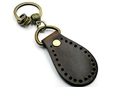 Amazon.com: BrownBeans, Homemade Classic Leather Keychain Key Chain Keyring Fob Holder (BBKC1019) (Dark Brown): Automotive Leather Keychain, Classic Leather, Key Chain, Dark Brown, Homemade, Personalized Items, Amazon, Stuff To Buy, Black