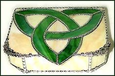Stained glass Celtic jewelry box.