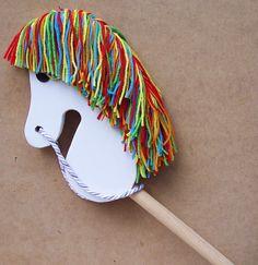 Broomstick Horse: - Broom Stick Horse - Rainbow Brite