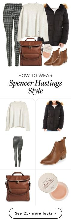 """""""Spencer Hastings inspired outfit"""" by liarsstyle on Polyvore featuring Topshop, A.N.A, DV, Fresh, school, college, comfortable and WF"""