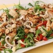 Grilled Shrimp and Calamari Salad Recipe - Laura in the Kitchen - Internet Cooking Show Starring Laura Vitale