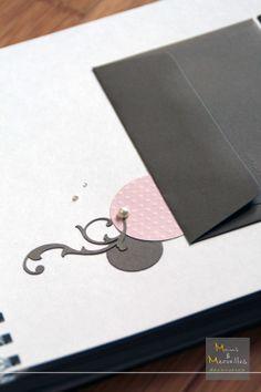 Détail intérieur livre d'or - Marron et vieux rose http://www.mainsetmerveillesdeco.fr/creation/livre-dor/