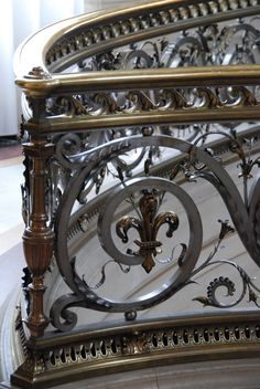 Another incredibly intricate metalwork handrail - this one from Chantilly, France