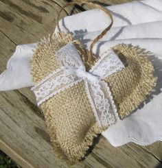 rustic burlap ornaments - Google Search