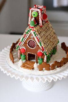Amazing gingerbread house made with GastroMax™ 3D cookie cutters.  Photo credit Lisa Campbell.