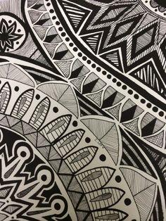 8th grade art project, mandala series pen and ink on paper :: PragmaticMom