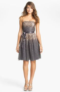 Eliza J Embellished Tulle Fit & Flare Dress available at Nordstrom