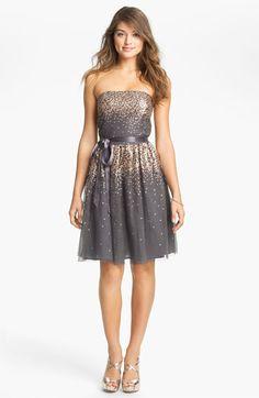 Eliza J Embellished Tulle Fit & Flare Dress available at #Nordstrom