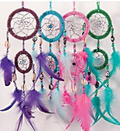 Dreamcatcher~Small Dreamcatcher with Feathers & Shell~Fair Trade Through Folio Gothic Hippy~WCH9