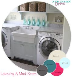 Laundry & Mud Room  by Atkinson Drive, via Flickr