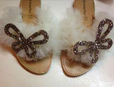 Handmade sandals with touli and butterflu!