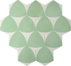 Bow B – cream/linden green (16mm tjock) | MarrakechDesign