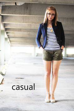 blazer + shorts via Long(enecker)-Story Short