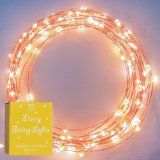 Starry Starry Lights - Warm White Color on Copper Wire - LED String Light - Includes Power Adapter - Generatin with 120 Individual LEDs: Patio, Lawn & Garden Starry String Lights, Indoor String Lights, Light String, String Lighting, Twinkle Lights, Gazebo Lighting, Party Lighting, Wedding Lighting, Lighting Ideas