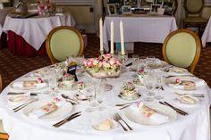 Vintage wedding table styled by Blue Thistle Weddings www.bluethistleweddings.co.uk