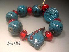 Handmade LAMPWORK Glass Beads DONNA MILLARD