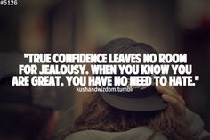 True confidence leaves no room for jealousy. When you know you are great,... | Nicki Minaj Picture Quotes | Quoteswave