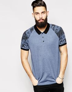 Polo Shirt With Floral Sleeves