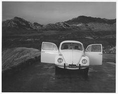 Bob Kolbrener Photography Volkswagen, Zabriske Point, Death Valley, CA, 1974 by Bob Kolbrener (Gelatin Silver Print)