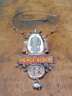 Victorian Memorial. Necklace Pendant featuring vintage reclaimed tin.. $160.00, via Etsy.
