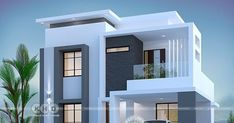 Modern Houses Discover 1800 square feet 3 bedroom elegant double storied house 1800 square feet 3 bedroom elegant looking double storied house plan by Dream Form from Kerala. Modern Small House Design, Modern Exterior House Designs, Simple House Design, Modern House Plans, Exterior Design, Contemporary Home Exteriors, Modern House Facades, Duplex House Plans, Modern Houses