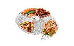 The Kraftware Double Walled Chip-N-Dip server is great not only for dips and salsa but also shrimp cocktail, crudite' and other appetizers you want to perfectly chilled as you serve them.  On sale for $59.95!