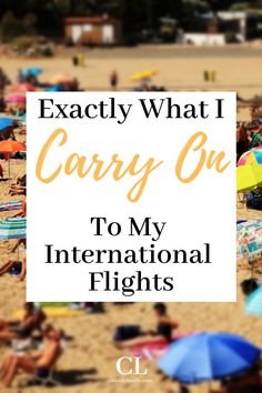 Carry on bag packing essentials for an international flight. Packing tips for a carry on bag for an international flight. Airplane Carry On, Airplane Travel, Carry On Bag Essentials, Packing Toiletries, Sleeping On A Plane, Best Carry On Bag, Natural Sleep Aids, Get Up And Walk, International Flights