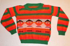1980s Childrens Ernie Sweater on Etsy, $20.00