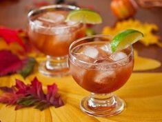 "vodka, pomegranate juice, iced tea, and orange zest ""Autumn Colors Cocktail"""