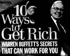 Warren Buffet, American business magnate, investor, and philanthropist. Regarded as one of the most successful investors in the world, he ranks among world's wealthiest people Ways To Get Rich, How To Become Rich, Warren Buffett, Finance, Wealth Creation, Financial Tips, My Tumblr, Money Matters, Money Management