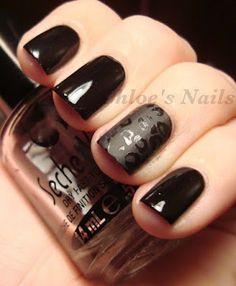 matte accent nail
