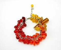Fading red chunky bracelet