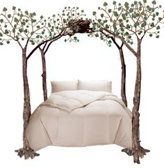 I love whimsy.....this bed makes me smile...I'm not so sure it would if I woke up at night and my toe bumped into the leg if I'd be smiling though. Ouch.