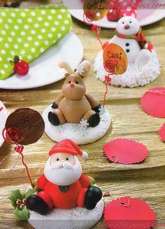 personnages de Noël en pâte fimo
