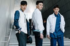 Street style: Lee Seok Chan, Shin Jae Hyuk, Kwon Hyun Bin shot by Alex Finch at Seoul Fashion Week Fall 2015