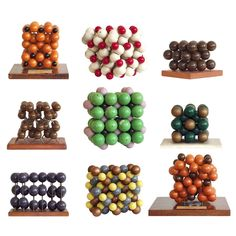 Collection of 23 Molecular Models from Harvard University   See more antique and modern Sculptures at https://www.1stdibs.com/furniture/decorative-objects/sculptures
