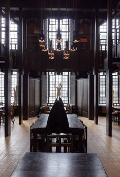 Charles Rennie Mackintosh's library prior to the fire (taken 2nd April 2014). Image © Robert Proctor