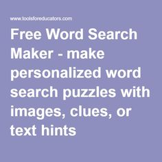 Free a to z teacher stuff tools word search maker handwriting free word search maker make personalized word search puzzles with images clues or ibookread PDF