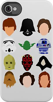 Star Wars - Minimalistic Characters iPhone & iPod Case