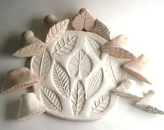 Ceramic Stamps, Leaf Stamp for Clay, Gift Set of Three Leaves, Texture and Pattern Tool, for Pottery, Polymer Clay, Metal Clay, and Ceramics