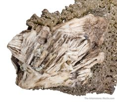 """Chlorargyrite on Cerussite, Broken Hill Mine, New South Wales, Australia, Cabinet, 10.0 x 3.8 x 3.6 cm, Formerly called """"embolite,"""" this rare silver-containing species is now officially named bromium chlorargyrite and remains an uncommon chloride of silver and bromine., For sale from The Arkenstone, www.iRocks.com. For more details on this piece and others, visit http://www.irocks.com/minerals/specimen/45175"""