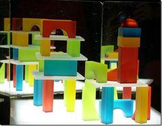 Beautiful blocks - Light Table Work With Translucent Blocks