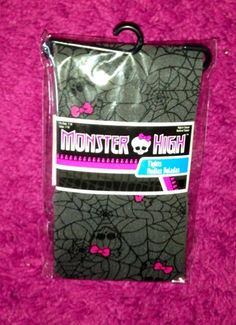 Monster High GIrls Tights  Fits sizes 7 through 8