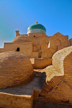 Glory Tour Plus agency welcomes you to ask any questions of how to travel to Uzbekistan => glorytourplus.info@gmail.com Uzbekistan, Khiva, Juma Mosque