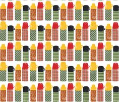 Thermos Stripe fabric by heidikenney on Spoonflower - custom fabric - I love this print!!
