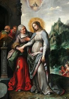31 May The Visitation of the Blessed Virgin Mary Religious Images, Religious Icons, Religious Art, Blessed Mother Mary, Blessed Virgin Mary, Rosary Mysteries, Queen Of Heaven, Sainte Marie, Holy Rosary