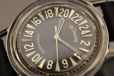 LeCoultre Stainless Steel Quartermaster Wristwatch with 24-Hour Dial circa 1960s image 3